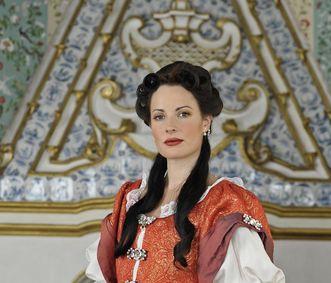 Kostümierte Schlossführerin in Schloss Favorite Rastatt; Foto: Staatliche Schlösser und Gärten Baden-Württemberg, Niels Schubert