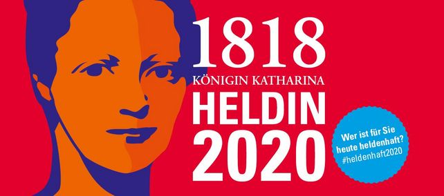 Illustration der Königin Katharina für die Aktion #heldenhaft2020