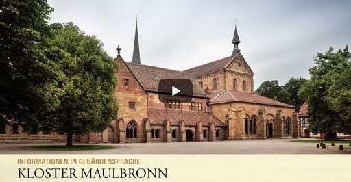 """Startbildschirm des Filmes """"Kloster Maulbronn: Informationen in Gebärdensprache"""""""