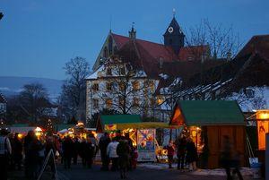 Kloster und Schloss Salem, Weihnachtsmarkt; Foto: Staatliche Schlösser und Gärten Baden-Württemberg, Hermann Böhne