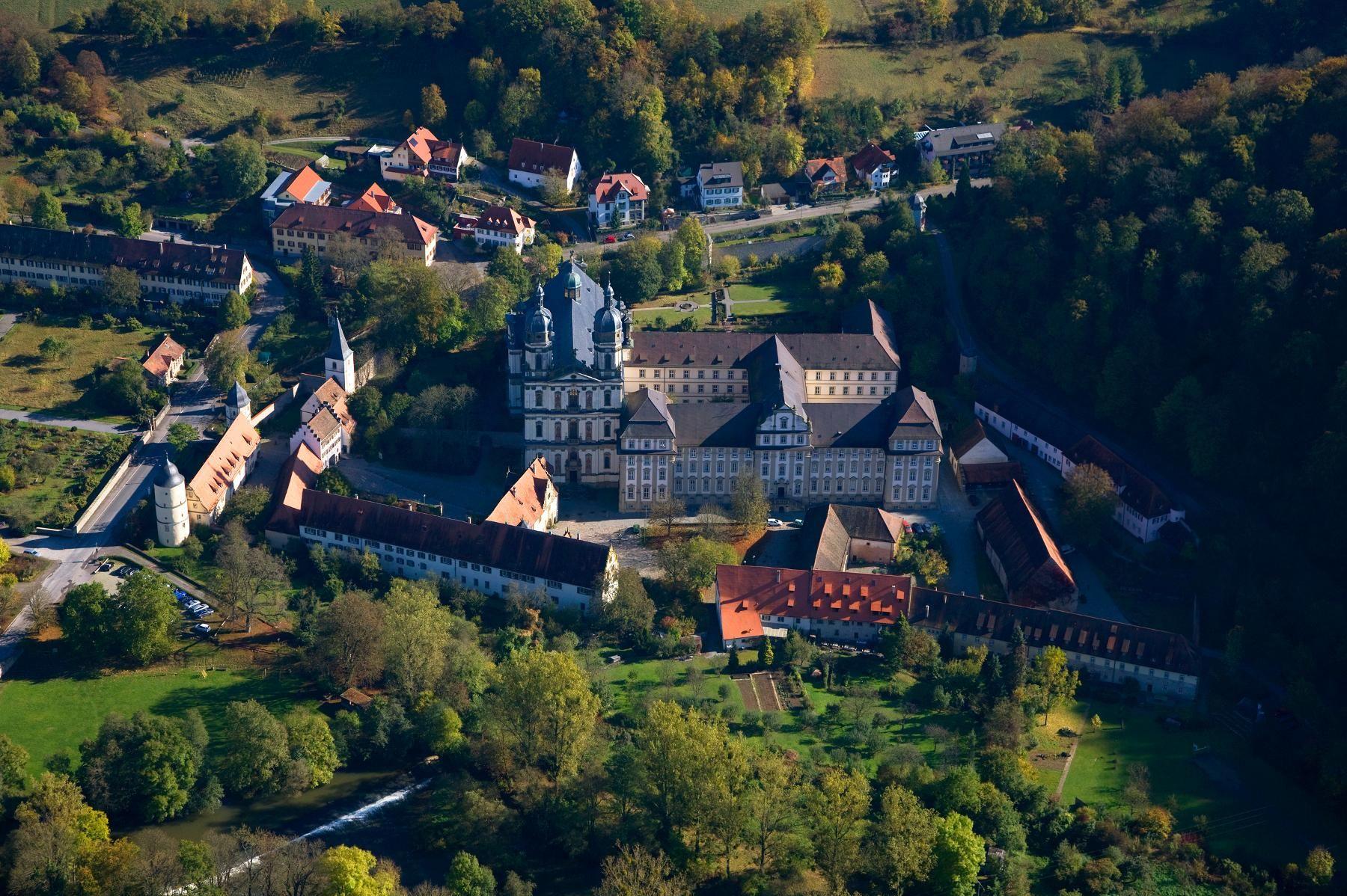 Schöntal Monastery, Aerial view