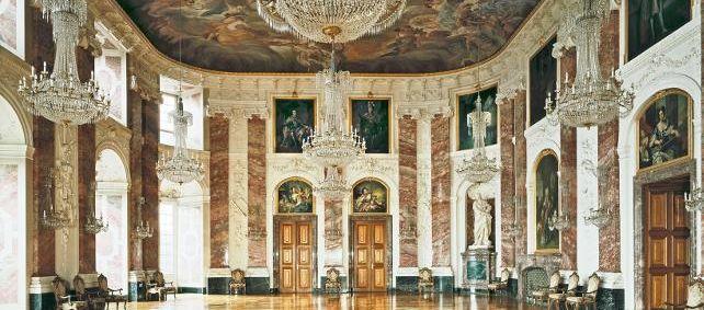 Barockschloss Mannheim, Innen, Rittersaal