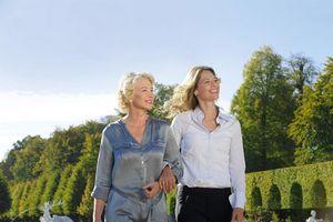 Besucherinnen im Schwetzinger Schlosspark