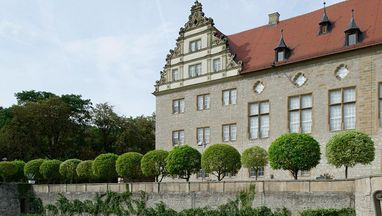 Schloss und Schlossgarten Weikersheim; Foto: Staatliche Schlösser und Gärten Baden-Württemberg, Niels Schubert