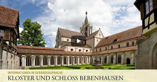 """Startbildschirm des Filmes """"Kloster und Schloss Bebenhausen: Informationen in Gebärdensprache"""""""