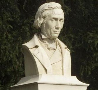 Botanischer Garten Karlsruhe, Denkmal Heinrich Hübsch; Foto: Landesmedienzentrum Baden-Württemberg, Andrea Rachele