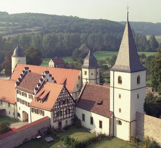 Luftansicht von Kloster Schöntal