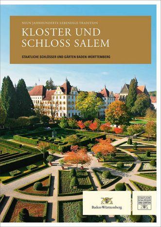 """Titel der Publikation """"Kloster und Schloss Salem: Neun Jahrhunderte lebendige Tradition.""""; Gestaltung: Gestaltung: Staatliche Schlösser und Gärten Baden-Württemberg, JUNG:Kommunikation GmbH"""