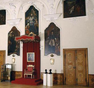 Thronsaal von Schloss ob Ellwangen; Foto: Staatliche Schlösser und Gärten Baden-Württemberg, Urheber unbekannt