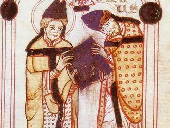 Norbert von Xanten empfängt die Ordensregeln vom heiligen Augustinus