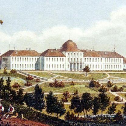 Stich von Schloss Hohenheim in Stuttgart-Hohenheim