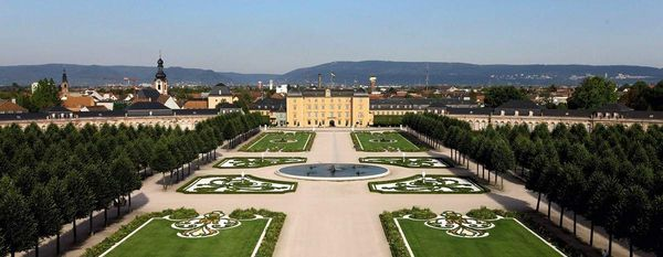 Schwetzingen Palace and Gardens, garden side
