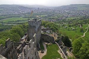 Burg Rötteln, Luftaufnahme