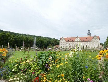 Schloss Weikersheim, Gartenseite; Foto: Staatliche Schlösser und Gärten Baden-Württemberg, Sonja Wünsch