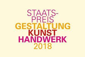 Wortmarke Staatspreis Kunsthandwerk 2018; Design: Ministerium für Wirtschaft, Arbeit und Wohnungsbau Baden-Württemberg