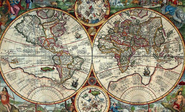 Weltkarte 1594, Petro Plancio