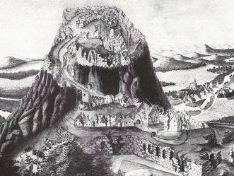 Hohentwiel, Aquarell, nach 1801