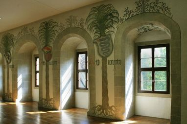Palmensaal im Residenzschloss Urach; Foto: Staatliche Schlösser und Gärten Baden-Württemberg, Janna Almeida