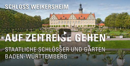 """Startbildschirm des Films """"Auf Zeitreise gehen: Schloss und Schlossgarten Weikersheim"""""""