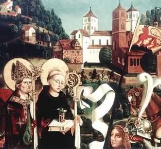Tafel eines Flügelaltars aus dem 15. Jahrhundert mit den Heiligen Aurelius und Benediktus aus der Aureliuskirche; Foto: Landesmedienzentrum Baden-Württemberg, Böhm