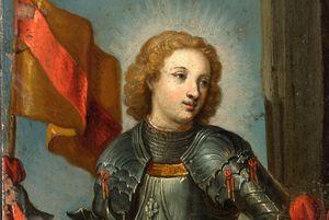 Zisterzienserinnenabtei Lichtenthal, Klappaltar mit der Abbildung des heiligen Bernhard