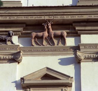 Group of animals on the north tower of Schöntal monastery church. Image: Foto Besserer
