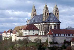 Kloster Großcomburg, Außenansicht; Foto: Staatliche Schlösser und Gärten Baden-Württemberg, Arnim Weischer