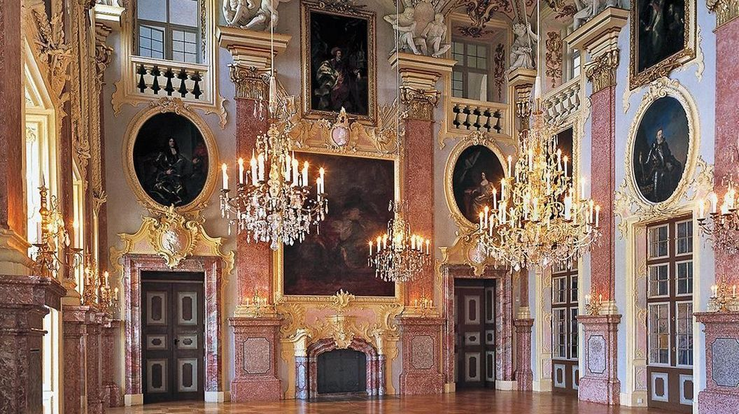 Residenzschloss Rastatt, Innenansicht, Ahnensaal