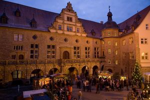Schloss und Schlossgarten Weikersheim, Weihnachtsmarkt; Foto: Staatliche Schlösser und Gärten Baden-Württemberg, Schlossverwaltung Weikersheim