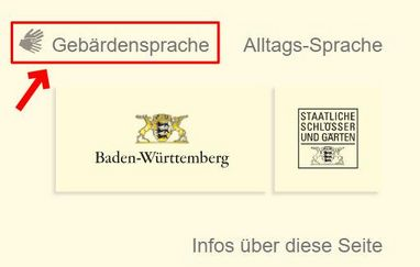 """Screenshot """"Gebärdensprache"""""""