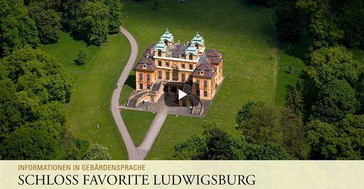 """Startbildschirm des Filmes """"Schloss Favorite Ludwigsburg: Informationen in Gebärdensprache"""""""