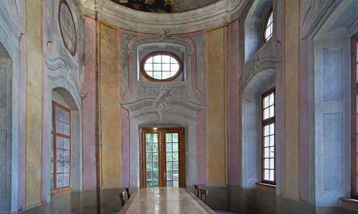 Teehaus im Schlossgarten Meersburg von innen; Foto: Vermögen und Bau Baden-Württemberg, Amt Ravensburg, Joachim Feist