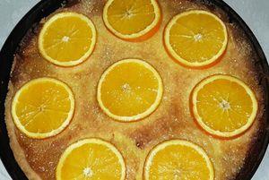 Fertige Orangentarte
