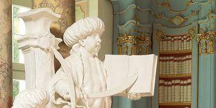 Detail aus dem Bibliothekssaal in Kloster Schussenried