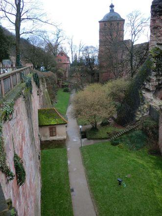 Maltesergraben am Heidelberger Schloss