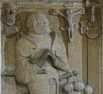 Grabmal von Götz von Berlichingen im Kloster Schöntal; Foto: Foto Besserer