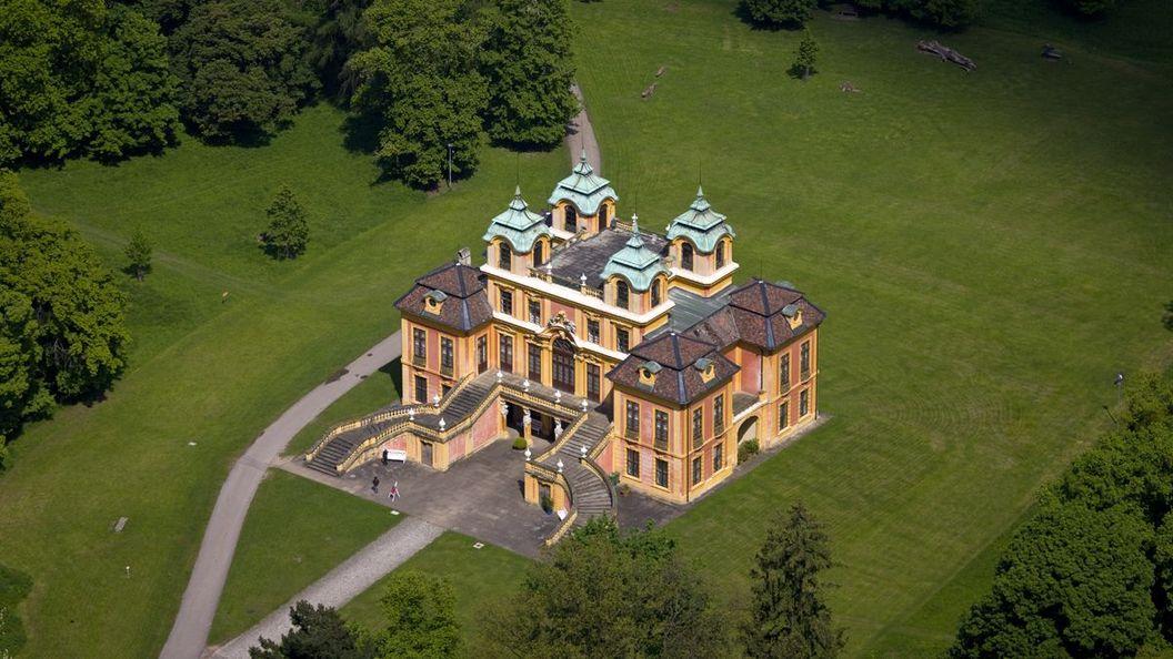 Schloss Favorite Ludwigsburg, Luftansicht