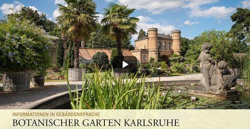 """Startbildschirm des Filmes """"Botanischer Garten Karlsruhe: Informationen in Gebärdensprache"""""""