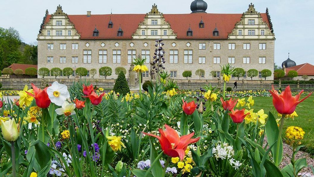 Frühjahrsbepflanzung im Schlossgarten Weikersheim; Foto: Staatliche Schlösser und Gärten Baden-Württemberg, Sonja Wünsch
