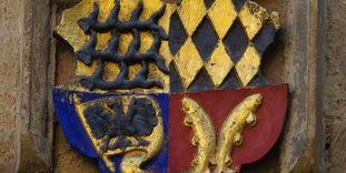 Württembergisches Herzogswappen von Herzog Ulrich am Pfarrhaus in Markgröningen, 1544