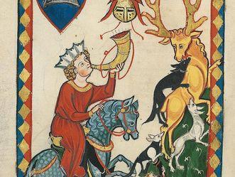 Codex Manesse oder Große Heidelberger Liederhandschrift, um 1310, Foto: Wikimedia, Urheber unbekannt