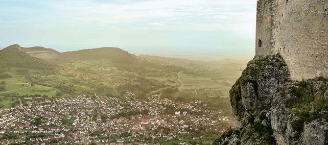 Festungsruine Hohenneuffen, Ausblick auf die Landschaft