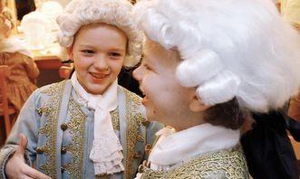 Verkleidete Kinder in Residenzschloss Ludwigsburg