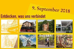 Plakatmotiv Tag des offenen Denkmals 2018; Gestaltung: Deutsche Stiftung Denkmalschutz, Eva-Kristina Ruwwe