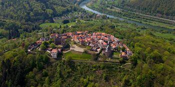 Burgfeste Dilsberg von oben