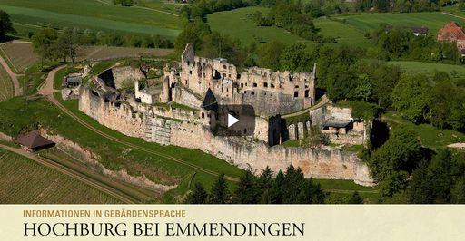 """Startbildschirm des Filmes """"Hochburg bei Emmendingen: Informationen in Gebärdensprache"""""""