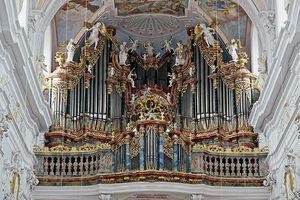 Die Gabler Orgel in der Schlosskirche von Ochsenhausen