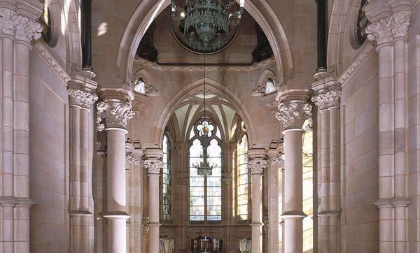 Ansicht des Innenraums der Großherzoglichen Grabkapelle Karlsruhe