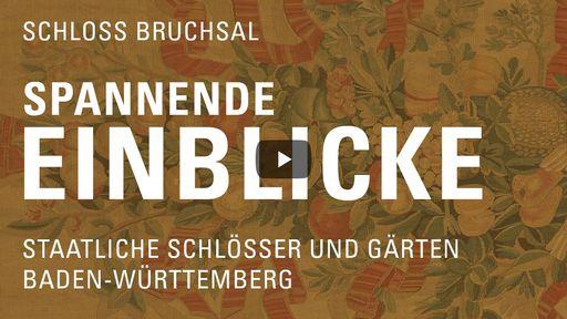 """Startbildschirm des Films """"Spannende Einblicke mit Michael Hörrmann: Schloss Bruchsal"""""""
