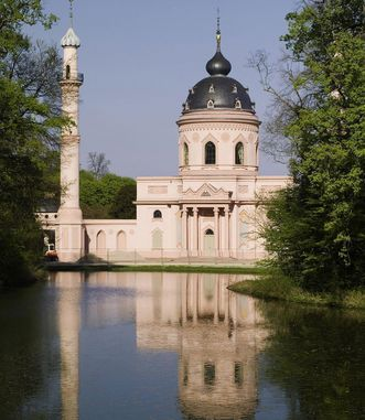 Moschee im Schlossgarten Schwetzingen;  Foto: Staatliche Schlösser und Gärten Baden-Württemberg, Arnim Weischer